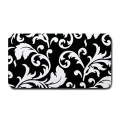 Vector Classical Traditional Black And White Floral Patterns Medium Bar Mats