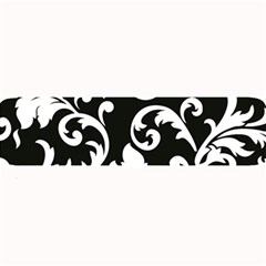 Vector Classical Traditional Black And White Floral Patterns Large Bar Mats