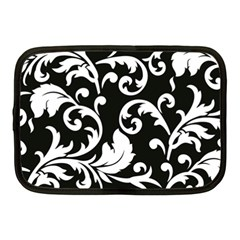 Vector Classical trAditional Black And White Floral Patterns Netbook Case (Medium)