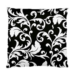 Vector Classical Traditional Black And White Floral Patterns Standard Cushion Case (two Sides)