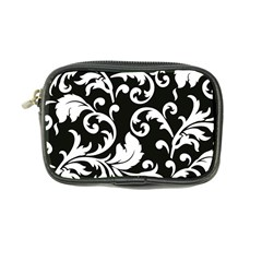 Vector Classical Traditional Black And White Floral Patterns Coin Purse