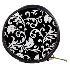 Vector Classical trAditional Black And White Floral Patterns Mini Makeup Bags