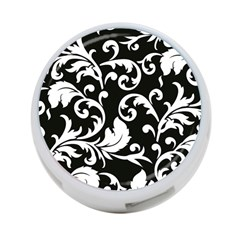 Vector Classical trAditional Black And White Floral Patterns 4-Port USB Hub (One Side)