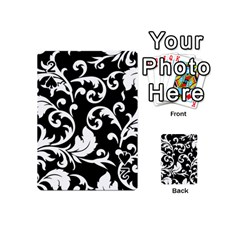 Vector Classical Traditional Black And White Floral Patterns Playing Cards 54 (mini)