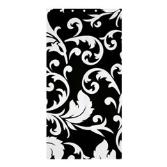 Vector Classical Traditional Black And White Floral Patterns Shower Curtain 36  X 72  (stall)