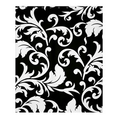 Vector Classical Traditional Black And White Floral Patterns Shower Curtain 60  X 72  (medium)