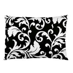 Vector Classical Traditional Black And White Floral Patterns Pillow Case (two Sides)