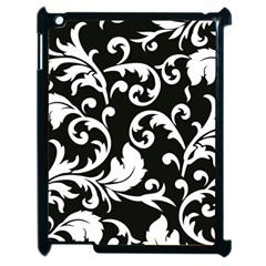 Vector Classical Traditional Black And White Floral Patterns Apple Ipad 2 Case (black)