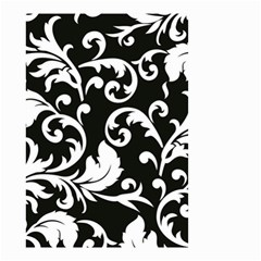 Vector Classical Traditional Black And White Floral Patterns Small Garden Flag (two Sides)