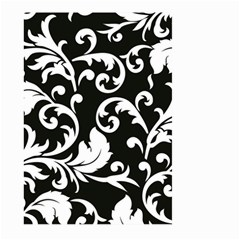 Vector Classical Traditional Black And White Floral Patterns Large Garden Flag (two Sides)