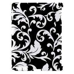 Vector Classical Traditional Black And White Floral Patterns Apple Ipad 3/4 Hardshell Case (compatible With Smart Cover)