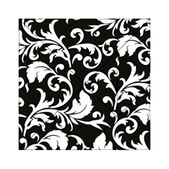 Vector Classical Traditional Black And White Floral Patterns Acrylic Tangram Puzzle (6  X 6 )