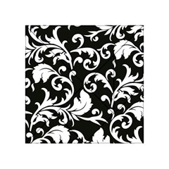 Vector Classical trAditional Black And White Floral Patterns Acrylic Tangram Puzzle (4  x 4 )
