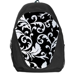 Vector Classical Traditional Black And White Floral Patterns Backpack Bag