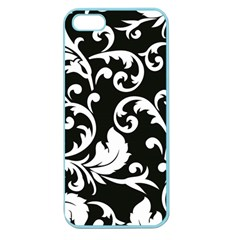 Vector Classical trAditional Black And White Floral Patterns Apple Seamless iPhone 5 Case (Color)