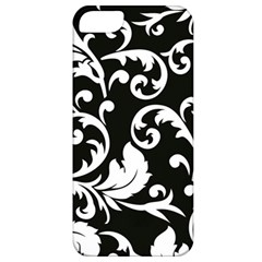 Vector Classical Traditional Black And White Floral Patterns Apple Iphone 5 Classic Hardshell Case