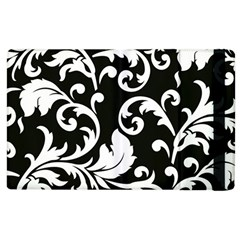 Vector Classical Traditional Black And White Floral Patterns Apple Ipad 2 Flip Case