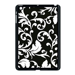 Vector Classical Traditional Black And White Floral Patterns Apple Ipad Mini Case (black)