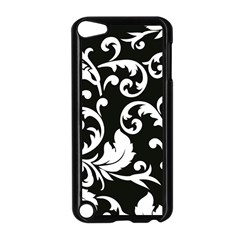 Vector Classical Traditional Black And White Floral Patterns Apple Ipod Touch 5 Case (black)