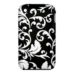 Vector Classical Traditional Black And White Floral Patterns Iphone 3s/3gs