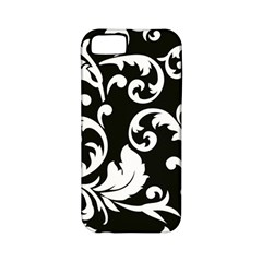Vector Classical Traditional Black And White Floral Patterns Apple Iphone 5 Classic Hardshell Case (pc+silicone)