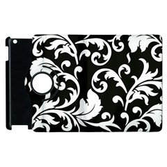 Vector Classical trAditional Black And White Floral Patterns Apple iPad 2 Flip 360 Case