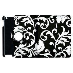 Vector Classical Traditional Black And White Floral Patterns Apple Ipad 3/4 Flip 360 Case