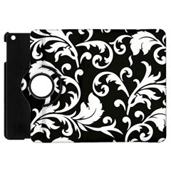 Vector Classical trAditional Black And White Floral Patterns Apple iPad Mini Flip 360 Case