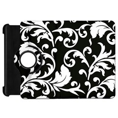 Vector Classical Traditional Black And White Floral Patterns Kindle Fire Hd 7