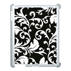 Vector Classical Traditional Black And White Floral Patterns Apple Ipad 3/4 Case (white)