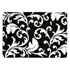 Vector Classical trAditional Black And White Floral Patterns Samsung Galaxy Tab 10.1  P7500 Flip Case