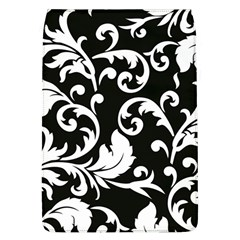 Vector Classical trAditional Black And White Floral Patterns Flap Covers (L)