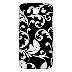Vector Classical Traditional Black And White Floral Patterns Samsung Galaxy Mega 5 8 I9152 Hardshell Case