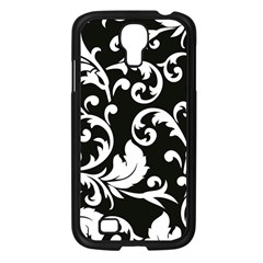 Vector Classical Traditional Black And White Floral Patterns Samsung Galaxy S4 I9500/ I9505 Case (black)