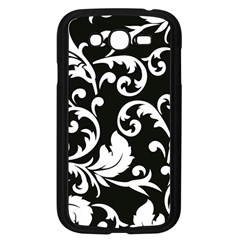 Vector Classical trAditional Black And White Floral Patterns Samsung Galaxy Grand DUOS I9082 Case (Black)