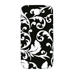 Vector Classical Traditional Black And White Floral Patterns Samsung Galaxy S4 I9500/i9505  Hardshell Back Case