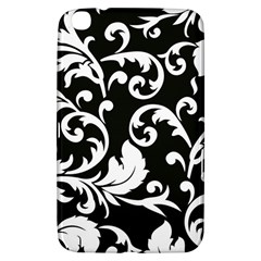 Vector Classical trAditional Black And White Floral Patterns Samsung Galaxy Tab 3 (8 ) T3100 Hardshell Case