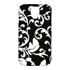 Vector Classical trAditional Black And White Floral Patterns Samsung Galaxy S4 Classic Hardshell Case (PC+Silicone)