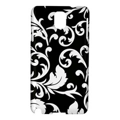 Vector Classical Traditional Black And White Floral Patterns Samsung Galaxy Note 3 N9005 Hardshell Case