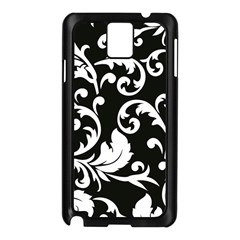 Vector Classical Traditional Black And White Floral Patterns Samsung Galaxy Note 3 N9005 Case (black)