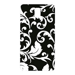 Vector Classical trAditional Black And White Floral Patterns Samsung Galaxy Note 3 N9005 Hardshell Back Case
