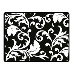 Vector Classical trAditional Black And White Floral Patterns Double Sided Fleece Blanket (Small)