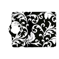 Vector Classical Traditional Black And White Floral Patterns Kindle Fire Hd (2013) Flip 360 Case