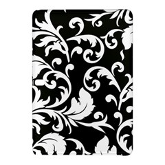 Vector Classical trAditional Black And White Floral Patterns Samsung Galaxy Tab Pro 12.2 Hardshell Case