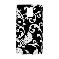 Vector Classical Traditional Black And White Floral Patterns Samsung Galaxy Note 4 Hardshell Case