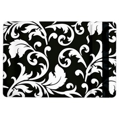 Vector Classical trAditional Black And White Floral Patterns iPad Air 2 Flip