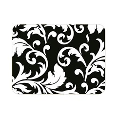 Vector Classical Traditional Black And White Floral Patterns Double Sided Flano Blanket (mini)