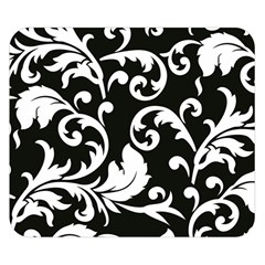 Vector Classical Traditional Black And White Floral Patterns Double Sided Flano Blanket (small)