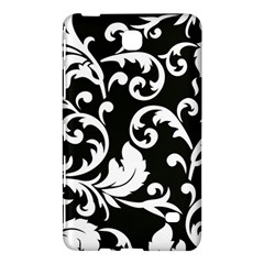 Vector Classical Traditional Black And White Floral Patterns Samsung Galaxy Tab 4 (7 ) Hardshell Case
