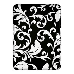 Vector Classical Traditional Black And White Floral Patterns Samsung Galaxy Tab 4 (10 1 ) Hardshell Case